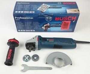 Foto vom Lieferumfang der Bosch Flex GWS 13-125 CIE