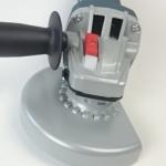 Foto vom Spindel-Arretierknopf am Winkelgetriebe der 9-125 S