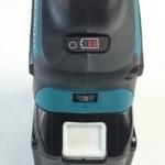 Die LED-Anzeige und das Drehzahlstellrad der Makita DGA513