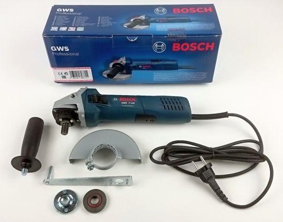 Die im Lieferumfang enthaltenen einzelnen Teile des Bosch GWS 7-125